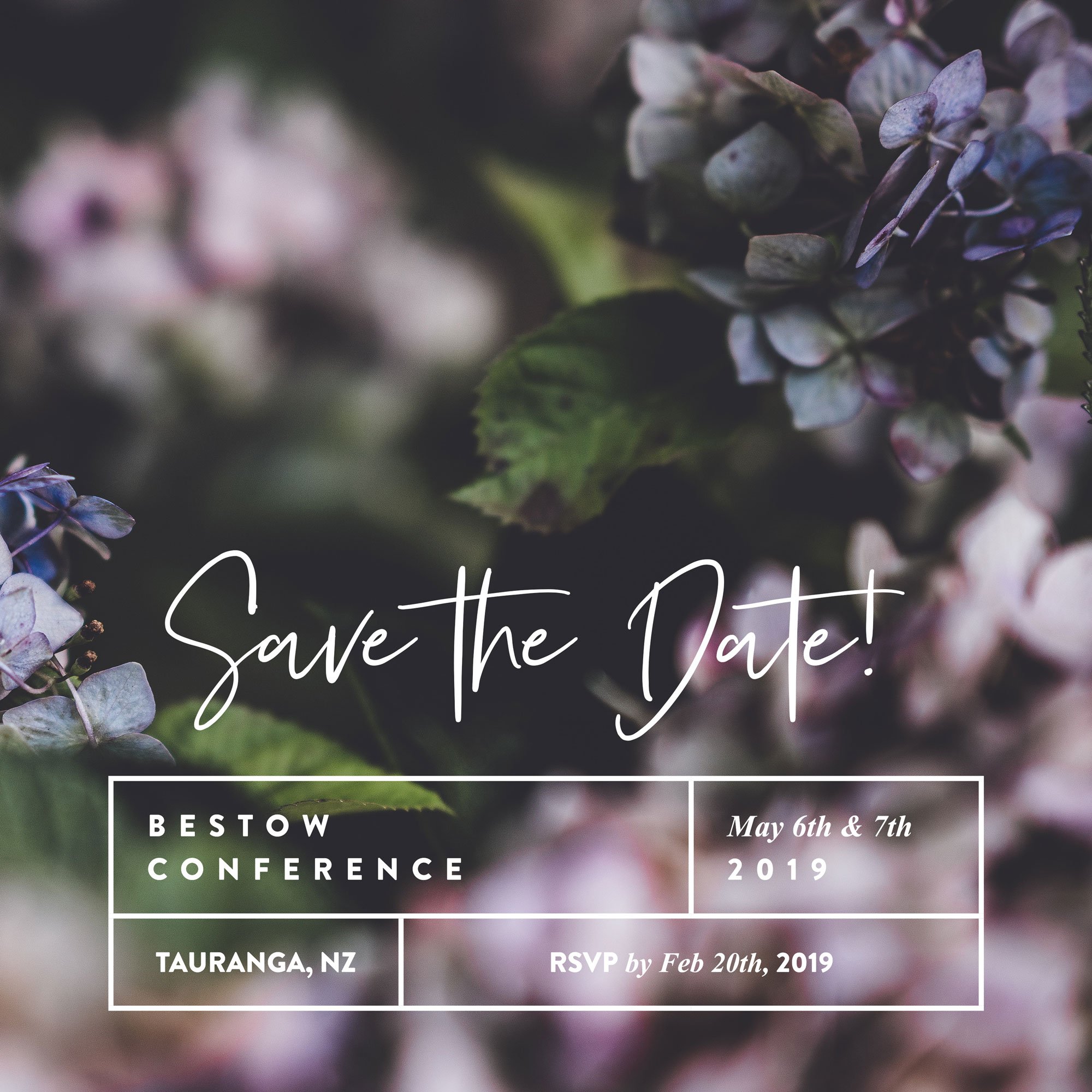 SAVE THE DATE! Bestow Conference 2019